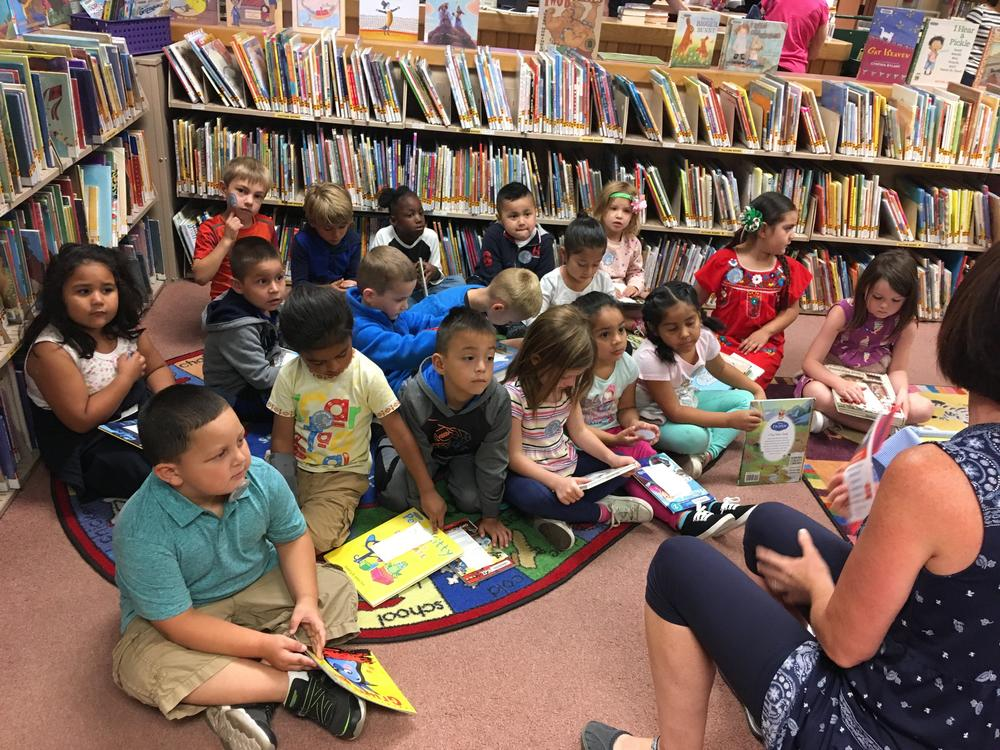 Kinders at Public Library